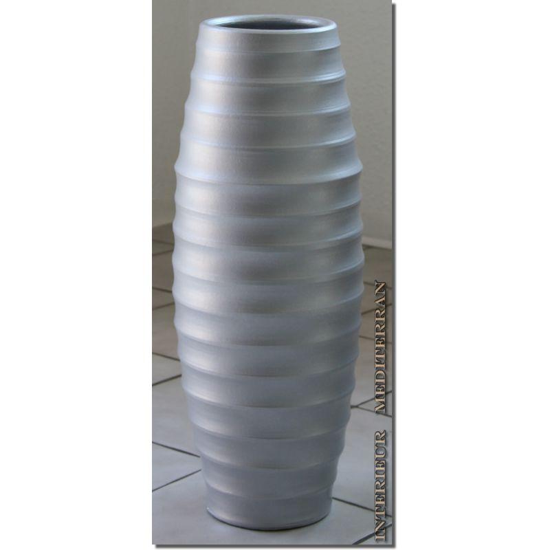 bodenvase keramik silber ca 50 cm casulo 39 90. Black Bedroom Furniture Sets. Home Design Ideas