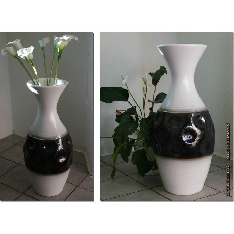 Bodenvase Weiß 70 Cm : bodenvase 70cm keramik weiss schwarz favo 69 90 ~ Frokenaadalensverden.com Haus und Dekorationen