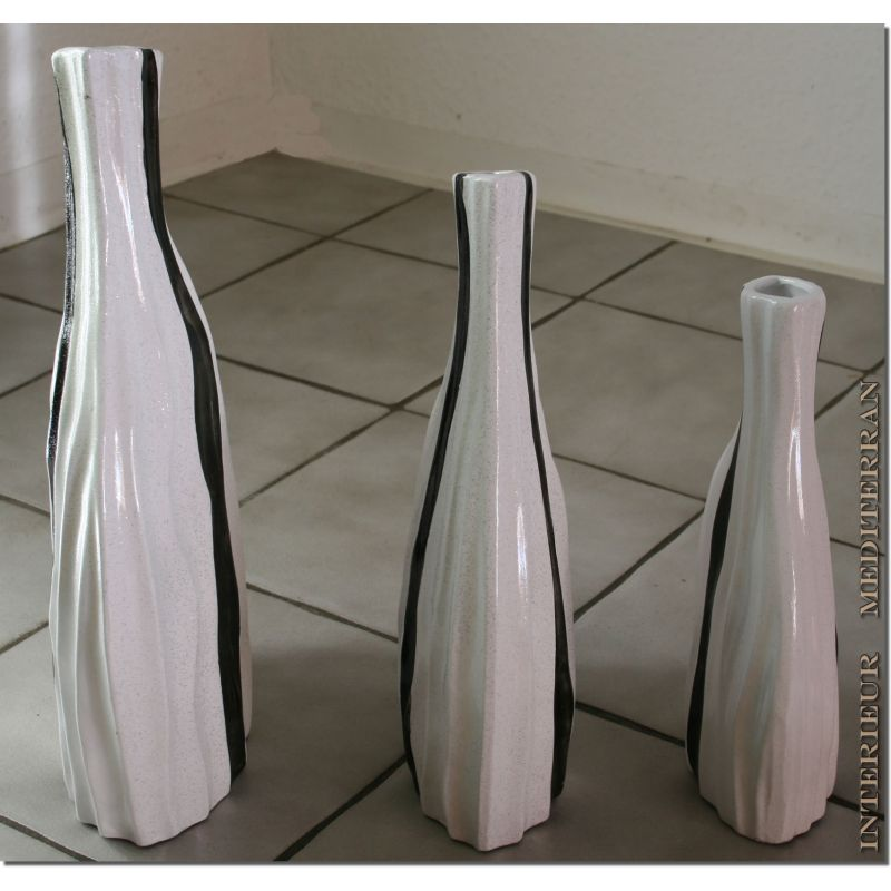 dekovasen set 3 vasen tischvasen keramik 40cm madeira. Black Bedroom Furniture Sets. Home Design Ideas