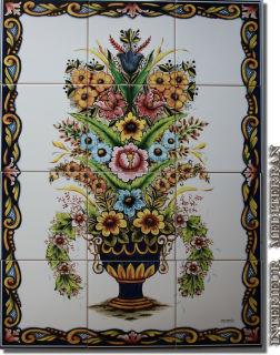 Wandkacheln 12 Stück je Motiv - Blumenstrauss - Wetterfest!