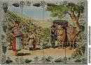 Wandkacheln 12 Stück je Motiv - Weinlese2 - Wetterfest!