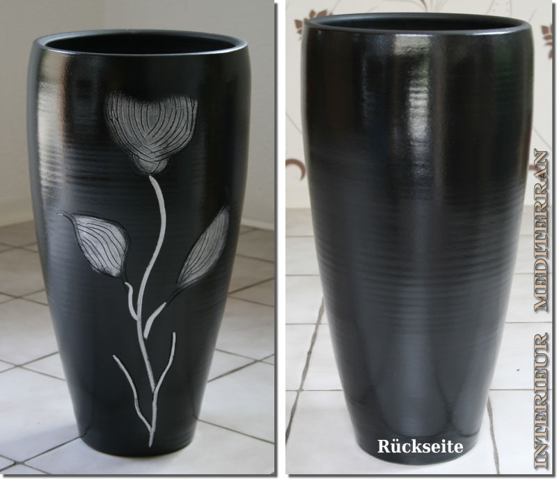 bodenvase chrome gr e 50 cm 39 90. Black Bedroom Furniture Sets. Home Design Ideas