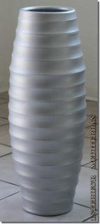 "BODENVASE Keramik Silber ca. 50 CM ""casulo"""