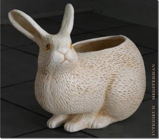 Hase Tierfigur als Pflanztopf oder zur Aufbewahrung - ca.25 CM aus Keramik