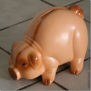 Sparschwein Tierfigur Schwein Keramik - großes Sparschwein - ca.20 CM