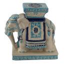 Elefant Tierfigur Dekofigur Keramik Teelicht Ständer...