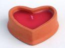 Herz Kerzenständer, Kerze Terracotta ca. 9 cm 3...