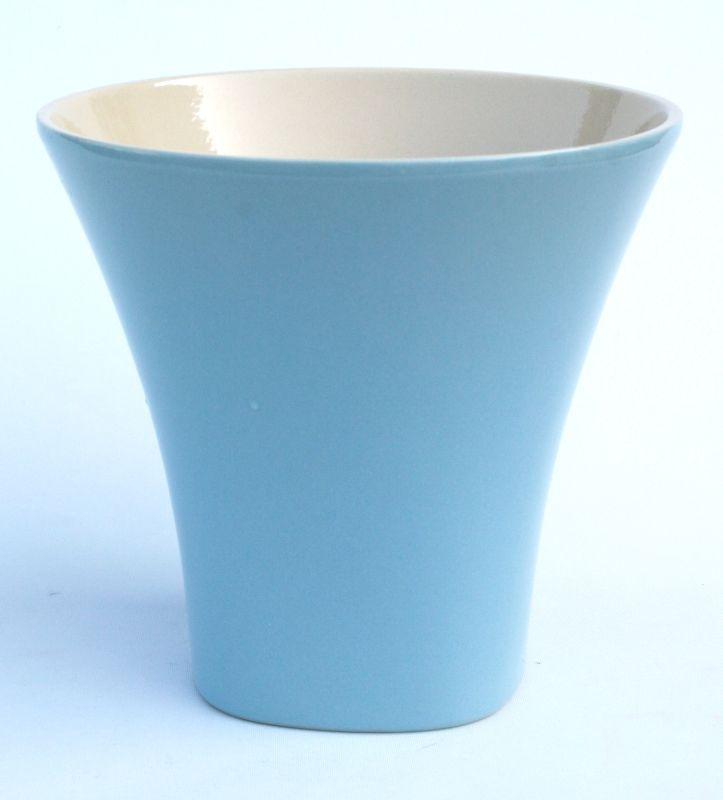 blumentopf pflanztopf keramik komplett glasiert wasserdicht blau 4. Black Bedroom Furniture Sets. Home Design Ideas
