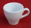 Espresso Tasse mit Unterteller - Weiss Keramik...