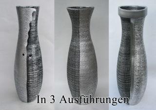 Bodenvase Dekovase Keramik Schwarz Silber ca.60 CM - Modell: Silberling